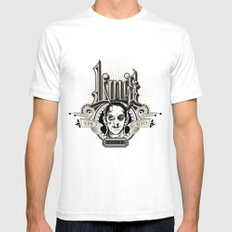 Lou's Tavern  SMALL Mens Fitted Tee White