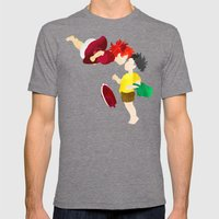 Ponyo and Sosuke Mens Fitted Tee Tri-Grey SMALL