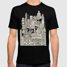 Hong Kong toile de jouy SMALL Mens Fitted Tee Black