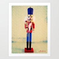 Nutcracker Says Hello  Art Print