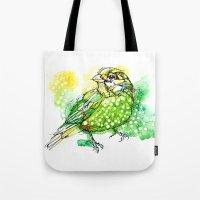 Australian Green Catbird  Tote Bag