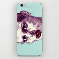Scary Dirty Face with Red Lips iPhone & iPod Skin