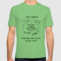 Typo Demons Mens Fitted Tee Grass SMALL