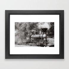 Train and steam Framed Art Print