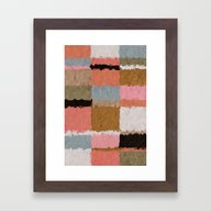 Stripes & Blocks Framed Art Print