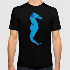 Origami Seahorse SMALL Black Mens Fitted Tee