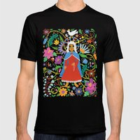 The Blessed Mother Mens Fitted Tee Black SMALL