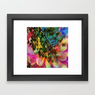 Framed Art Print featuring Abstract Fantasy Nature … by Lo Coco Agostino