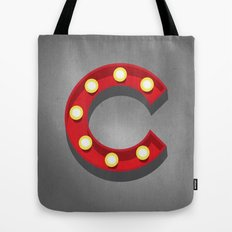 C - Theatre Marquee Letter Tote Bag
