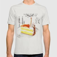 Birthday Cake Mens Fitted Tee Silver SMALL