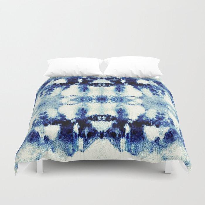 Tie Dye Blues Duvet Cover By Nina May Designs