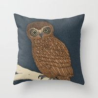 Boobook Owl Throw Pillow