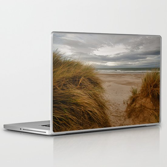Bamburgh Beach Laptop & iPad Skin