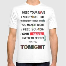 I Need Your Love ; Ellie Goulding feat. Calvin Harris Mens Fitted Tee White SMALL
