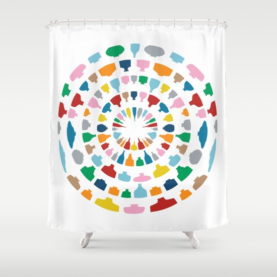 Wine o'Clock on White Shower Curtain