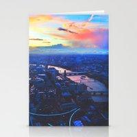 London Skyline COLOR Stationery Cards