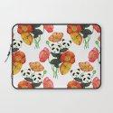 Poppies & Pandas Laptop Sleeve