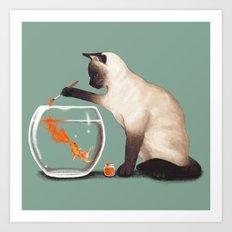 Goldfish need friend Art Print