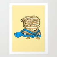 Captain Pancake Art Print