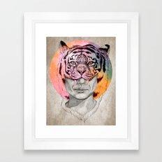 The Tiger Lady Framed Art Print