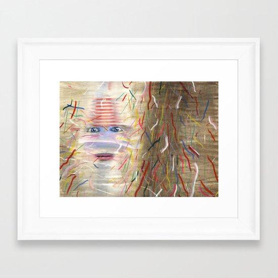 White Dreamer Framed Art Print