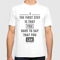Will Smith Quote - Motiv… Mens Fitted Tee White SMALL