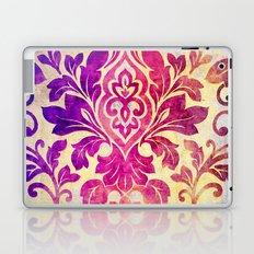 Purple Damask Pattern Laptop & iPad Skin