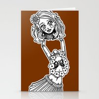 Headless Hula Girl by Ronkytonk Stationery Cards