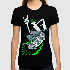 Skate Air Womens Fitted Tee Black SMALL