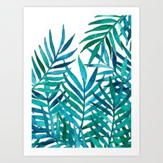 Watercolor Palm Leaves O… Art Print