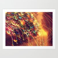 Butterfly Lights Art Print