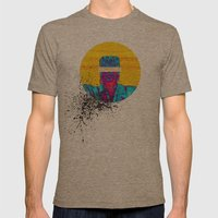 The Monster Mens Fitted Tee Tri-Coffee SMALL