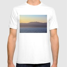 Mountains Mens Fitted Tee White SMALL