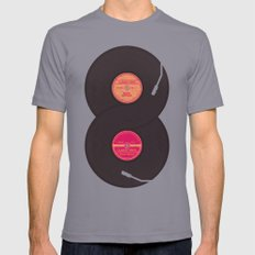 Infinity Vinyl Records Mens Fitted Tee Slate SMALL