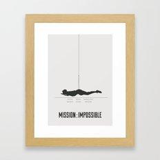 Mission : Impossible Framed Art Print