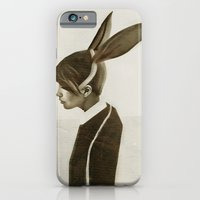 rabbit iPhone & iPod Cases featuring Rabbit by Ruben Ireland