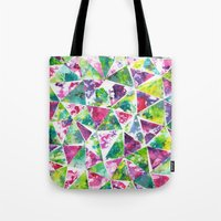 COLLAGE LOVE: Funky Tria… Tote Bag