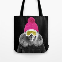LION SURFER POWDER POWER Tote Bag