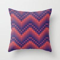 Pixelated Chevron Throw Pillow