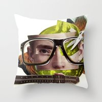 Make Me Perfect | Collag… Throw Pillow