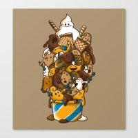 Ice Cream Time Canvas Print