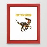 Raptor Squad Framed Art Print