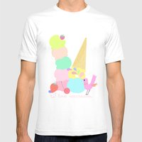I Love Icecream Mens Fitted Tee White SMALL
