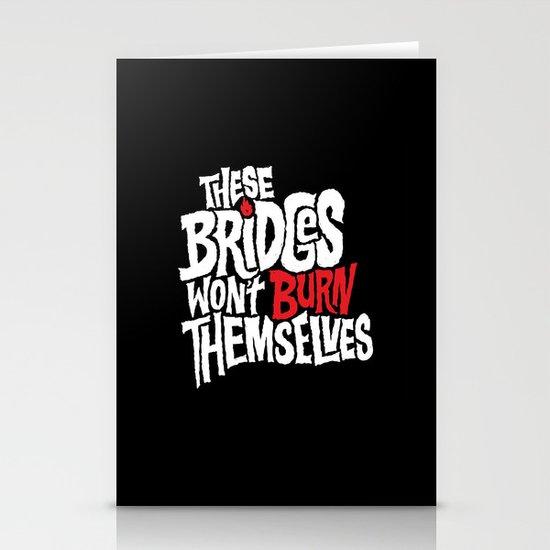 Burning Bridges Stationery Card