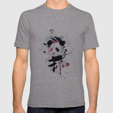 PANDA Mens Fitted Tee Athletic Grey SMALL