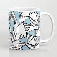 Abstraction Lines Sky Bl… Mug
