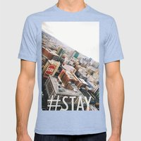 Stay Mens Fitted Tee Tri-Blue SMALL