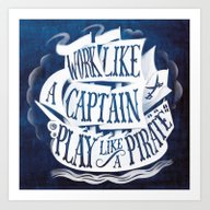 Art Print featuring Like A Pirate by Marella