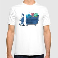 Grammar Police 2 Mens Fitted Tee White SMALL