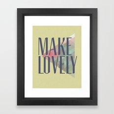 Make Lovely // Leaf Framed Art Print